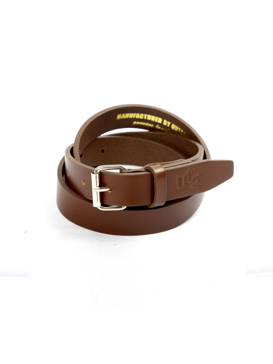 brown simple leather woman belt
