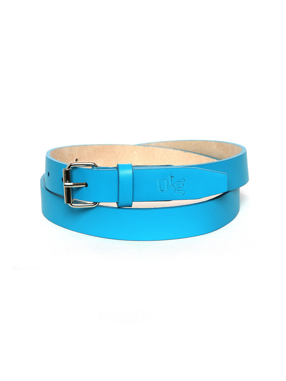 blue simple leather woman belt